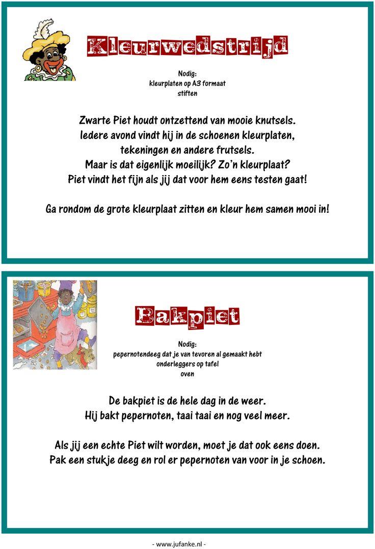 Feest: spelletjesmiddag Sinterklaas 5/9