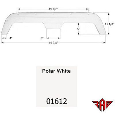 Icon 01612 Fleetwood 5th Wheel Travel Trailer Fender Skirt FS755 - White