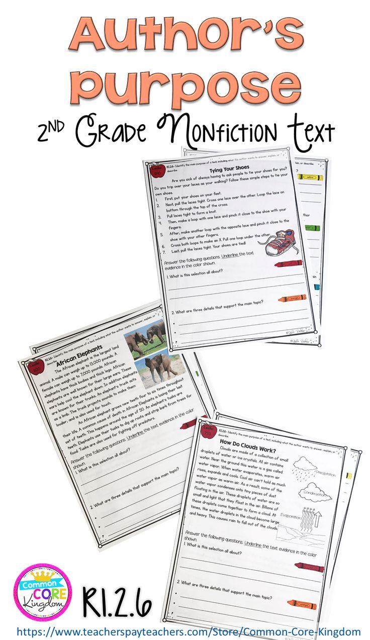 author 39 s purpose worksheet 25 pinterest readers notebook evidence based. Black Bedroom Furniture Sets. Home Design Ideas