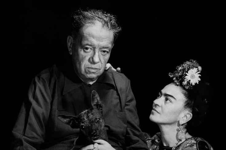 Marcel Sternberger, Diego Rivera and Frida Kahlo. Courtesy of Frida Kahlo Corporation.