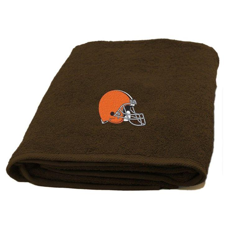 NFL Cleveland Browns Northwest Applique Bath Towel