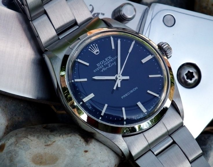 Vintage Rolex Oyster Perpetual 'Air King' - blue dial face