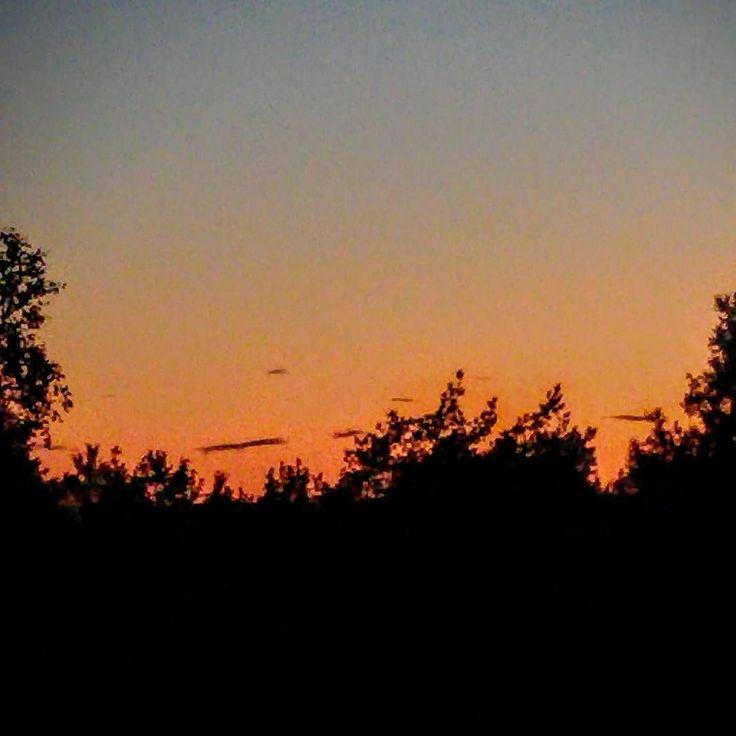 Nine o'clock - day is gone #sunset #night