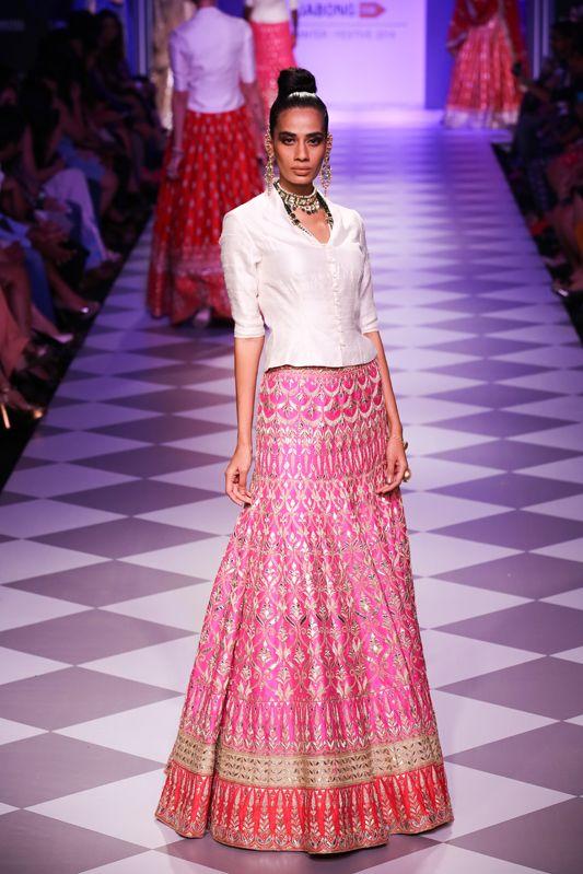Lengha by Anita Dongre at Lakme Fashion Week 2014
