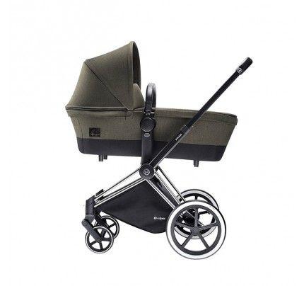 PRIAM klapvogn med stilfuld Carry Cot. Den er perfekt til den lilles første køreture. Køb online på Filur.dk. #priam #kørmedstil #klapvogn