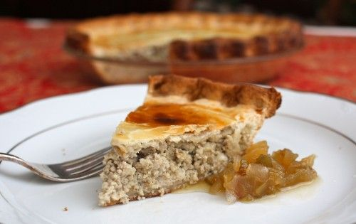 ::Classic Tourtière or Québec Pork Pie: Being from Quebec we always called it meat pie and as far as I know always used pork roast and beef ground after it was cooked. I remember the tradition well and eating it for breakfast Christmas morning.