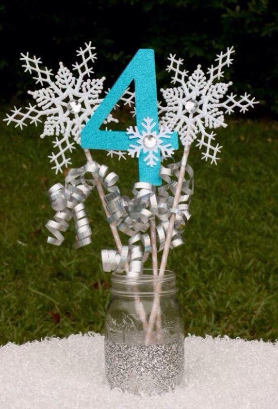 Frozen party centerpiece.