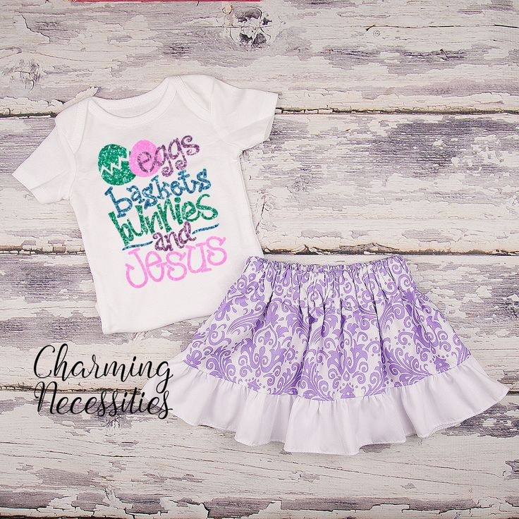35 best baby toddler girl easter outfits and dresses images on pinterest eggs baskets bunnies and jesus glitter top and twirl skirt outfit lavender baby toddler girl negle Choice Image