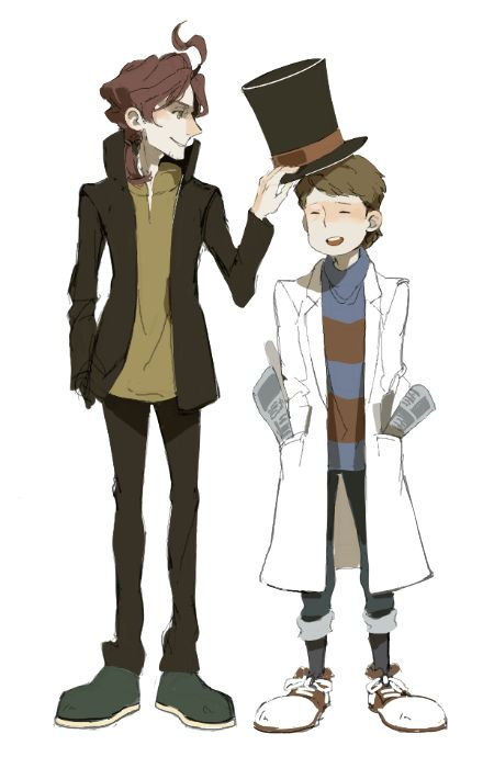 I do not understand, but I like it (like the drawing with Luke and the Professor's ages switched).