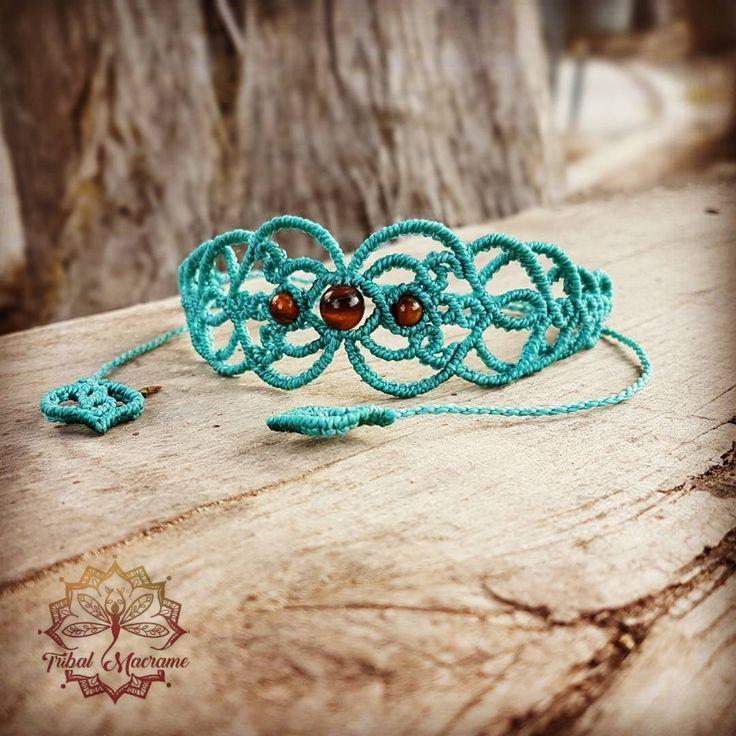 32€ . Www.etsy.com/shop/tribalmacrame  Macrame bracelet, choker, tiara, head piece, boho, hippie, faery, elven, festival, gypsy, bohemian jewelry