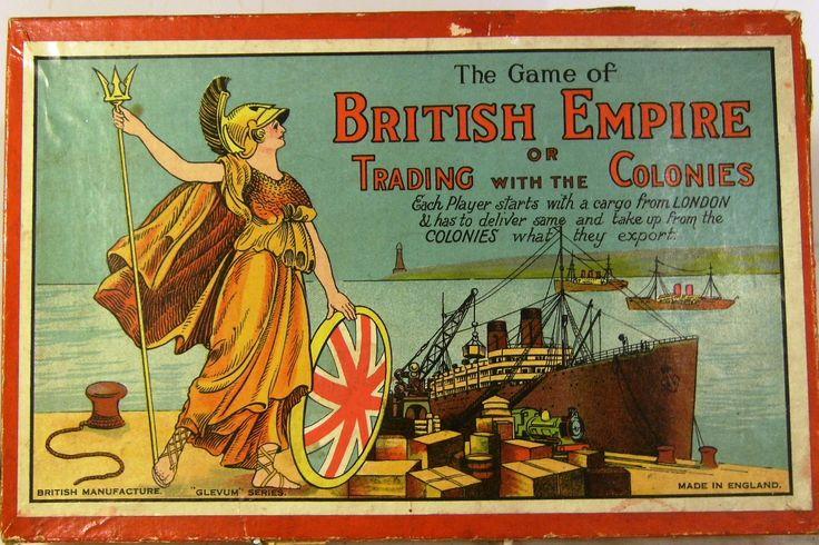 c1930's glevum british empire board game ( complete ...