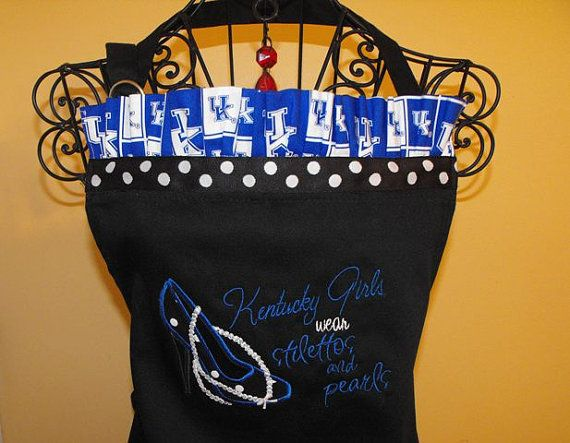 University of  Kentucky  Girls and Pearls Apron by sewsusandesigns, $34.00