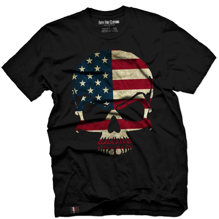 [Inked Girls Magazine] - Are you Patriotic AND badass? Then grab this Skull Flag Tee HERE------>>> http://www.inkedshop.com/mens-american-flag-skull-vintage-tee-fifty5-blk.html_n.png (717×717)