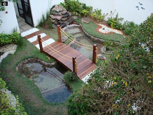 Imagem: laguinho c/ ponte