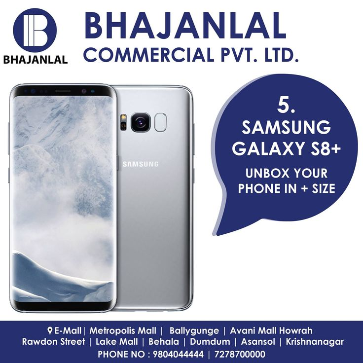 For those who like the big screen more, the Samsung galaxy s8 + brings a 6.2 inch display and QHD resolution.  The AMOLED panel looks good & the Exynos 8895 SoC keeps things fast and smooth.  Visit our store today!