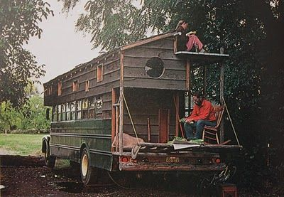70's rolling homes.The Roads, Tiny House, Mobiles Home, Dreams, Handmade Home, Wheels, Schools Buses, Travel, Roads Trips