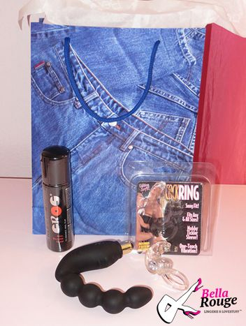 Men's Gift Bag: Ever feel like as a man you are missing out? Well we've made something just for you!! A bag of naughty goodies that'll get your blood racing!! ZAR1600 #FathersDay #SexyDad #Dad #ManBag #SexToys