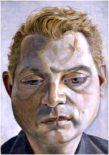 Portrait of Francis Bacon by Lucian Freud 1952 Oil on Metal, 7.8 x 12.7 cm Tate Gallery  (Stolen while on loan in Berlin in 1988)