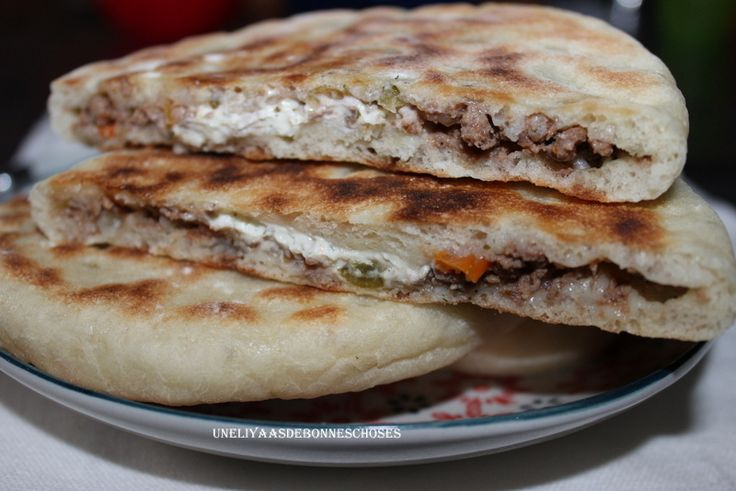 Pains farcis viande hachée,poivrons Ramadan 2016