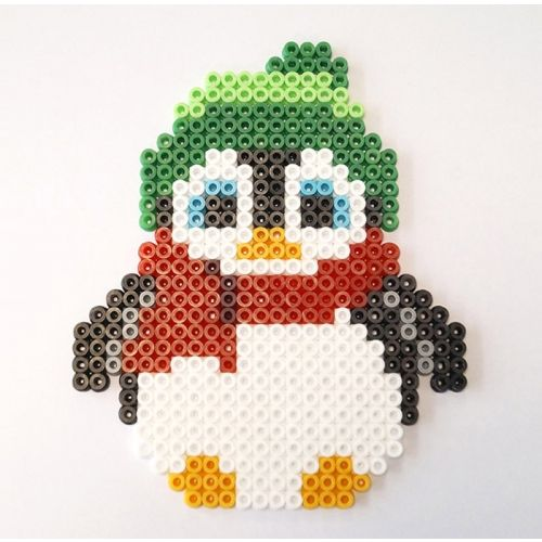 Pingüino, animales, animals,  Penguin hama beads, perler beads, bead sprites, nabbi fuse melty beads
