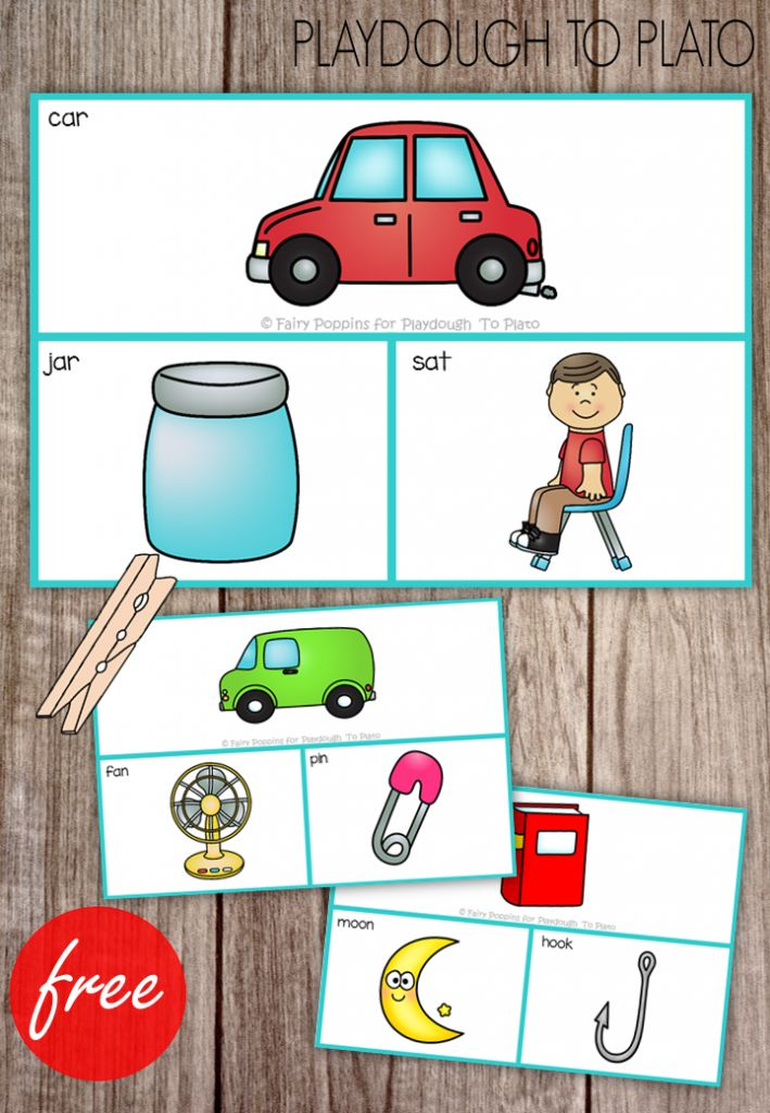What a  fun rhyming activity for preschool or kindergarten! FREE rhyme clip cards for kids.