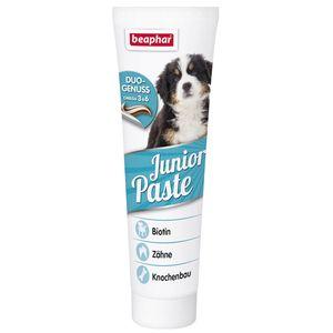 Beaphar Junior-Paste unterstützt die Entwicklung deines heranwachsenden Hundes. Sorgfältig ausgewählte Zutaten und die besondere Rezeptur machen die Junior-Paste zu einer ganz besonderen Leckerei. Viele lebensnotwendige Vitamine sind unverzichtbar für junge Hunde. Die Vitamine B1, B2, B12 und Folsäure unterstützten das Nervensystem. Biotin erhält das schöne, glänzende Fell und eine Extraportion L-Carnitin trägt zur Bildung starker Muskeln bei. Das in der Beaphar Junior-Paste enthaltene…