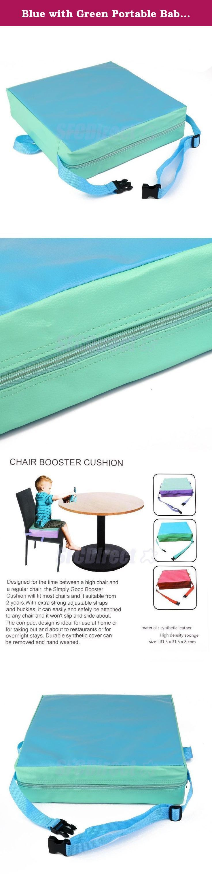 Blue with Green Portable Baby Kids Toddler Feeding High Chair Booster Seat Pad Dining Cushion. Life baby sitting in the chair to eat, because the body is not enough Gao, very convenient, even bought a special chair baby, but once their children grow up, they can not be used, and this time, we can help cushion this increase Gao to your baby, you can adjust the tightness to be split out sponge to clean and waterproof synthetic leather, food accidentally fell engage in dirty, as long as a…