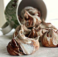 vortici di meringhe al cioccolato