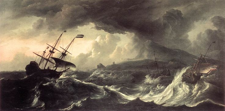 Ships Running Aground in a Storm by Ludolf Backhuysen