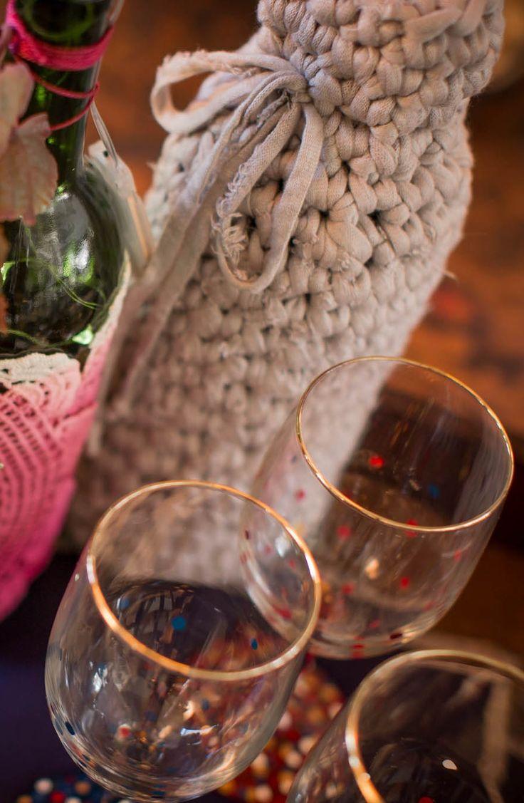 187 best Crochet jar and bottles covers images on Pinterest ...