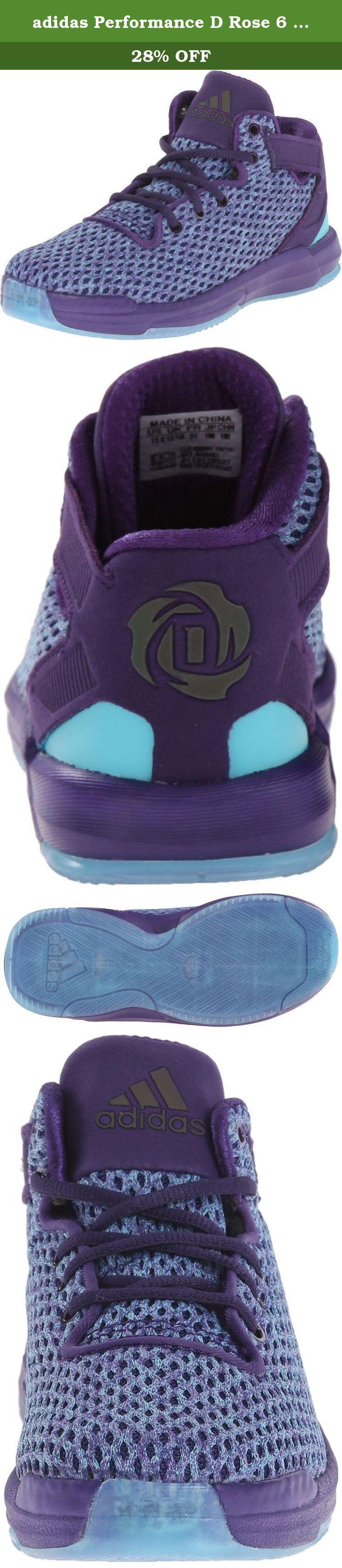 adidas Performance D Rose 6 C Shoe (Little Kid),Dark Purple/Blast Purple/Blue,12 M US Little Kid. Kid's Athletic Shoes.