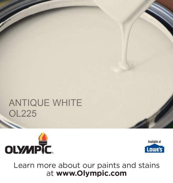 ANTIQUE WHITE OL225 is a part of the off-whites collection by Olympic® Paint.