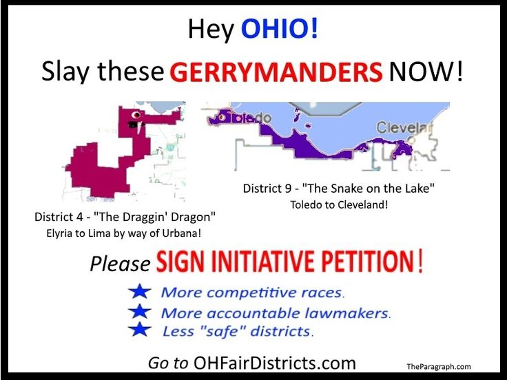 Ohioans Are Set To Finish The Job. In Ohio Voters Slew Statehouse  Gerrymanders. Now They Are Signing Petitions To Slay Congressional  Gerrymanders.
