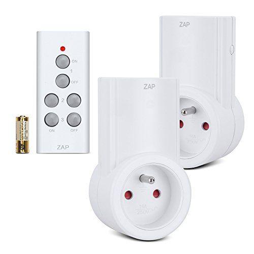Etekcity Lot de 2 Prise Télécommandée Programmable, Prise de Courant Electrique, Interrupteur Sans Fil, Fonction All ON/ All OFF, Pile…
