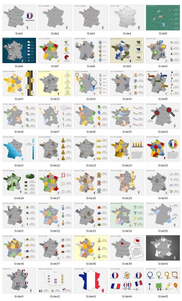 #FranceMap #FrancePPTMaps #EditabelPPTMaps #PowerPointMaps #VectorMaps #FrancePowerPointMaps