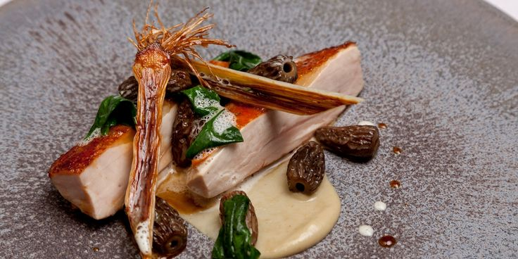 This beautiful dish from Marcus Eaves pairs tender guinea fowl with the mellow flavours of shallot, leek and morel