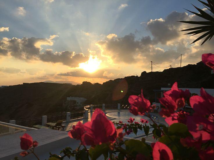 Sunset at Kolitsani, Ios