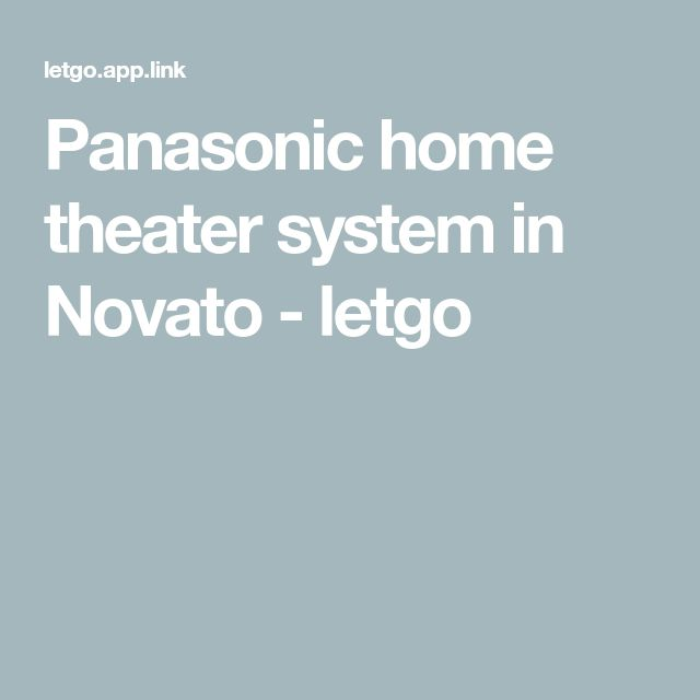 Panasonic home theater system in Novato - letgo