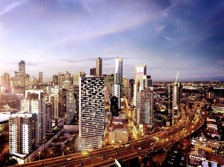 3d Visualisation - Haig Street Melbourne, CBD  Photomontage