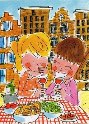 Tijd vrij maken voor plezier met vriendinnen!!! Blond Amsterdam, friends..