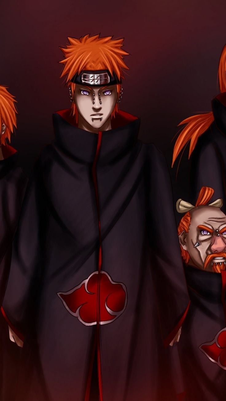 six paths of pain (kages) iPhone 6 wallpaper Naruto