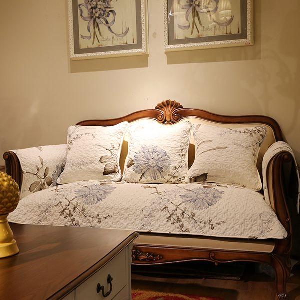 Tian Yuanqing новый элегантный диван подушки саржевого хлопка мыть хлопок Чехол дивана подушку полотенце покровное