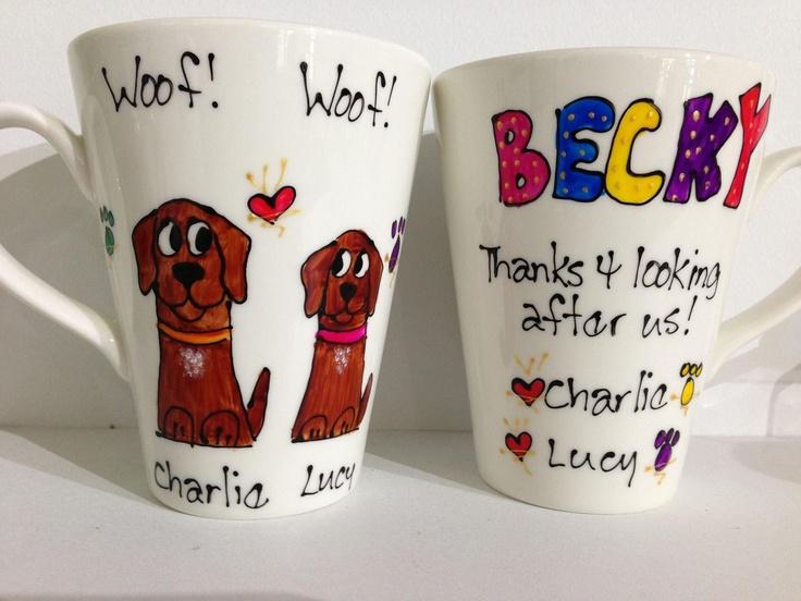 """Thanks for looking after us mugs...awesome gift!"" - hand-painted mugs by Lynda @ 'Funstuff by Lynda' - Port Douglas Market, Port Douglas, Australia"