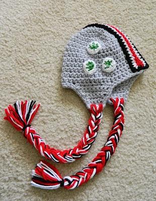 Crochet Infant Ohio State Helmet Hat