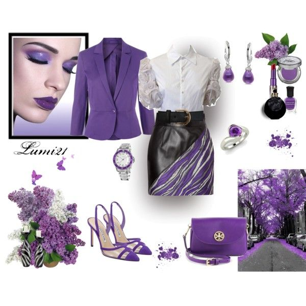 lilac time by lumi-21 on Polyvore featuring MaxMara, FAUSTO PUGLISI, Manolo Blahnik, Tory Burch, Diamondere, Miadora, Miss Selfridge, Urban Decay, Valentino and Deborah Lippmann
