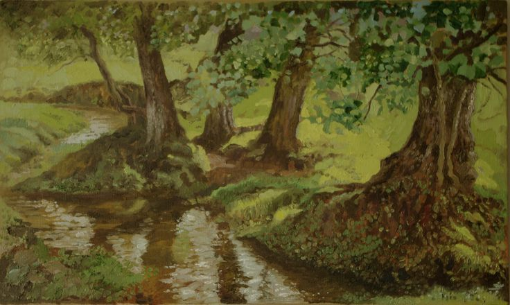 Bisterthorpe - Oil painting by Tom Wormell