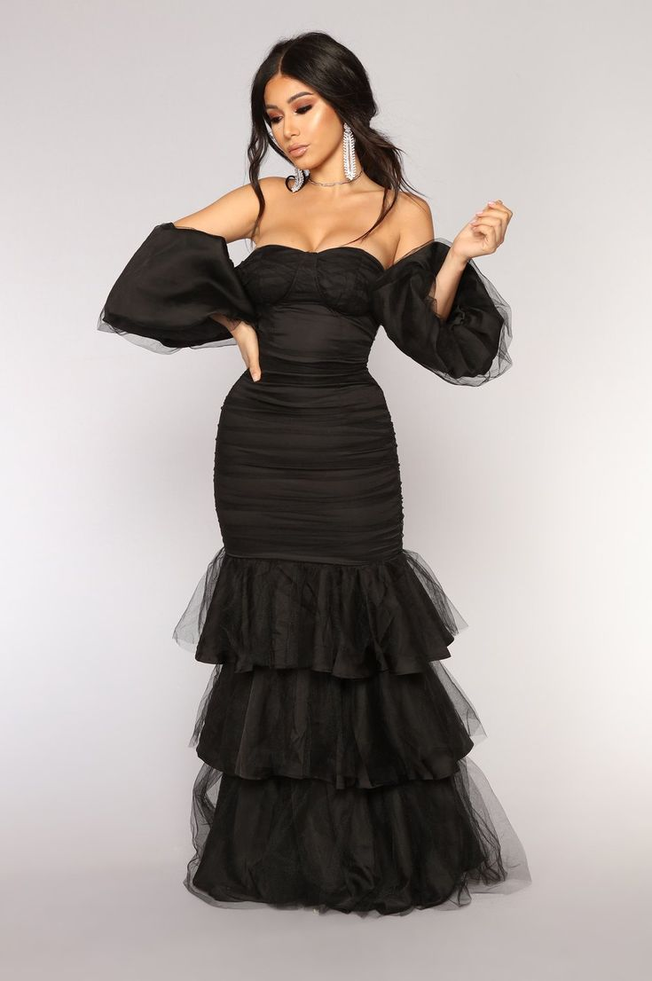 Ballroom Tulle Dress Black (With images) All black