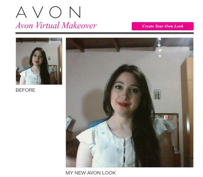 Check out the new look I created with the Avon Virtual Makeover: