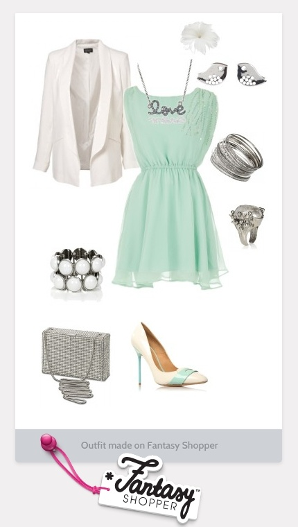 minus most of the silver jewelry and maybe a cute pair of spring-y wedges instead? ... love the dress and jacket combo.