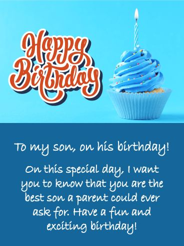 Best 78 birthday cards for son ideas on pinterest send free blue cupcake happy birthday wishes card for son to loved ones on birthday greeting cards by davia its free and you also can use your own m4hsunfo